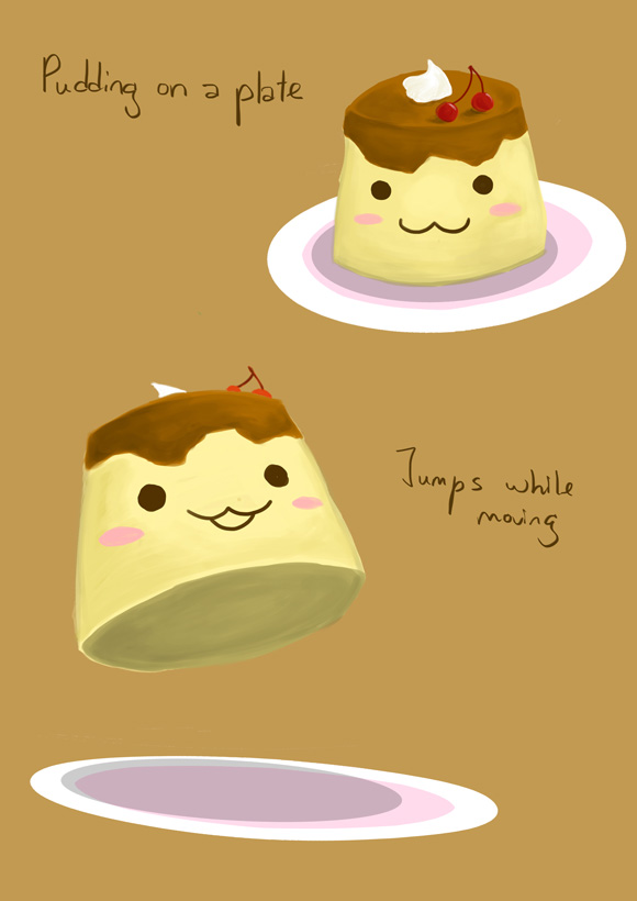 Pudding on a Plate
